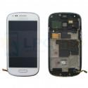 Дисплей для Samsung S3 mini i8190 в сборе с рамкой Белый