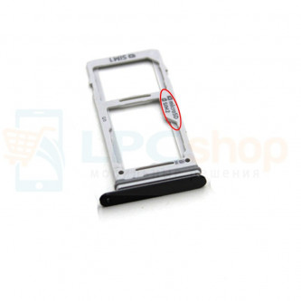 Лоток сим карты и карты памяти Samsung S9 G960FD / S9+ G965FD Dual (2 сим карты) Черный (Black)