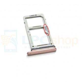 Лоток сим карты и карты памяти Samsung S9 G960FD / S9+ G965FD Dual (2 сим карты) Золотой (Gold)