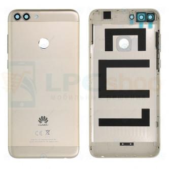 Крышка(задняя) Huawei P Smart Золото + Кнопки + Линза Камеры
