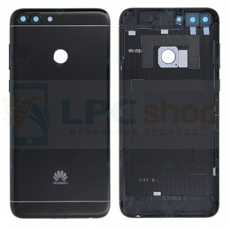 Крышка(задняя) Huawei P Smart Черная + Кнопки + Линза Камеры
