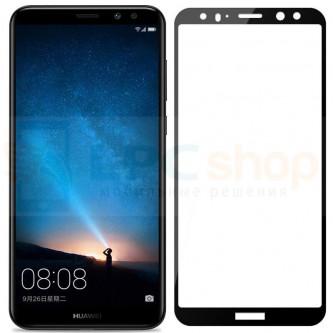 Защитное стекло (Full Screen) для Huawei Nova 2i (Полное покрытие) Черное