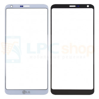 Стекло (для переклейки) LG G6 H870DS Белое