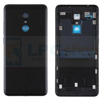 Крышка(задняя) Xiaomi Redmi 5 Черная + Кнопки + Линза Камеры