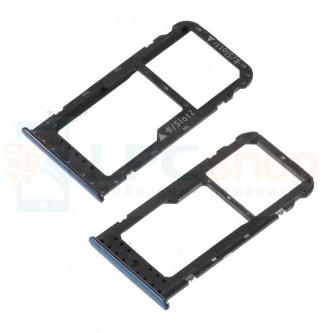 Лоток сим карты и карты памяти Huawei Honor 6C Pro Синий