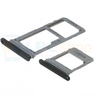 Лоток сим карты и карты памяти Samsung A8 A530FD / A8 Plus A730FD Dual (для 2-х сим карт) (комплект из 2шт) Черный
