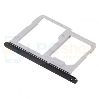 Лоток сим карты (sim1) и карты памяти LG Q6a M700 Черный (Black)