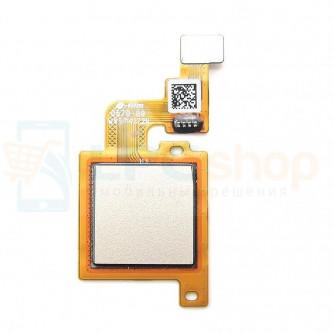 Шлейф Xiaomi Mi A1/Mi 5X сканер отпечатка пальцев Золото