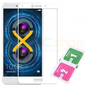 Защитное стекло (Полное покрытие) для Huawei Honor 6X Белое