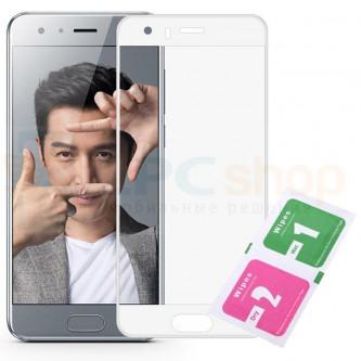 Защитное стекло (Полное покрытие) для Huawei Honor 9 Белое