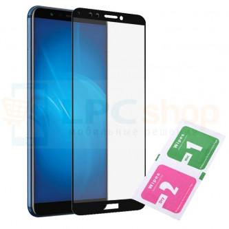 Защитное стекло (Полное покрытие) для Huawei Y6 2018 / Y6 Prime 2018 / Honor 7A Pro / Honor 7C AUM-L41 Черное