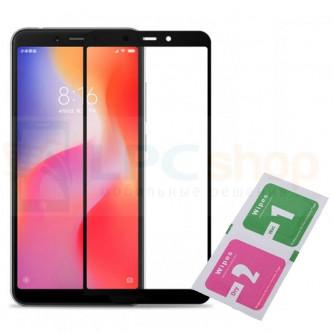2,5D Защитное стекло (Полное покрытие) для Xiaomi Redmi 6 / Redmi 6A Черное