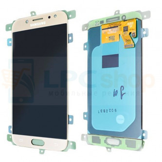 Дисплей Samsung J530F (J5 2017) в сборе с тачскрином Золото - Оригинал