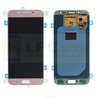 Дисплей Samsung J530F (J5 2017) в сборе с тачскрином Розовый - Оригинал