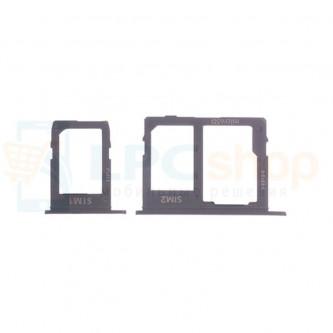 Лоток сим карты и карты памяти Samsung J6 (2018) J600FD (для 2-х сим карт) (комплект из 2шт) Черный