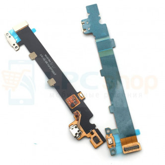 """Шлейф разъема зарядки Huawei MediaPad M3 Lite 10"""" (BAH-L09) плата ( P2600 usb mic spk fpc v5.0 )"""