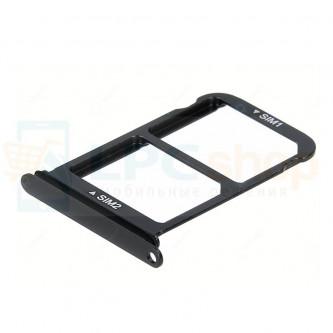 Лоток сим карты и карты памяти Huawei P20 Черный