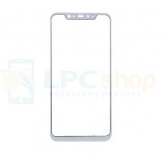 Стекло (для переклейки) Xiaomi Mi8 Белое