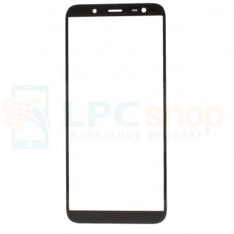 Стекло (для замены) Samsung J6 2018 J600F Черное