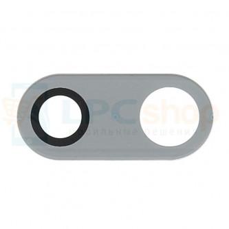 Стекло (для переклейки) камеры LG H930 V30 Серебро