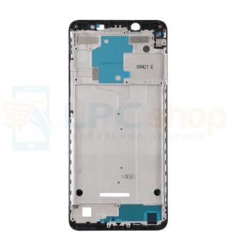 Рамка дисплея для Xiaomi Redmi Note 5 / Note 5 Pro Черная - AA
