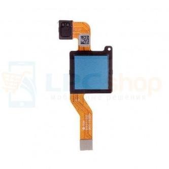Шлейф Xiaomi Redmi Note 5 сканер отпечатка пальцев Синий