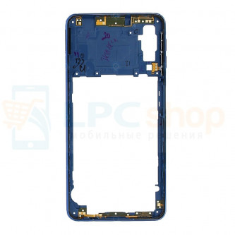 Средняя часть Samsung Galaxy A7 (2018) A750F Синяя + кнопки громкости