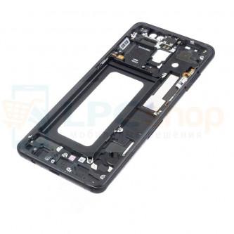 Рамка дисплея для Samsung A8+ (Plus) A730F Черная