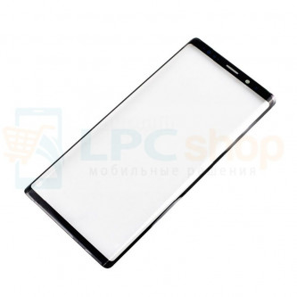 Стекло (для замены) Samsung Note 9 N960F Черное