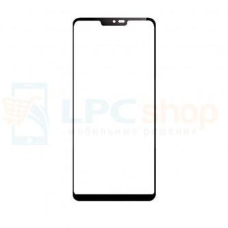Стекло (для переклейки) LG G7 ThinQ G710 Черное