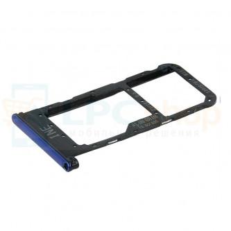 Лоток сим карты Huawei P Smart Plus / Nova 3i Синий