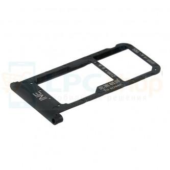 Лоток сим карты Huawei P Smart Plus / Nova 3i Черный