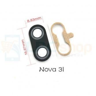 Стекло (для переклейки) камеры Huawei P Smart Plus / Nova 3i Черное