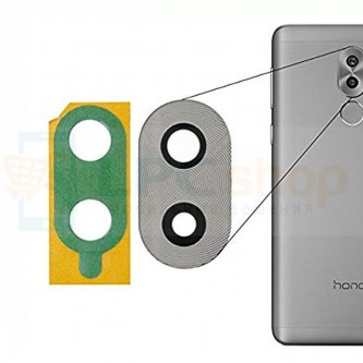 Стекло (для переклейки) камеры Huawei Honor 6X Серебро