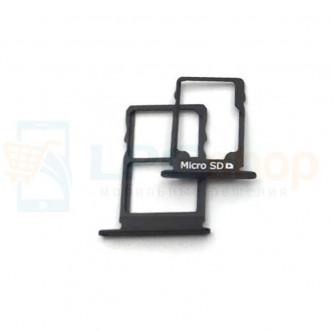 Лоток сим карты и карты памяти Nokia 3.1 Черный 2 сим карты) (комплект из 2шт)