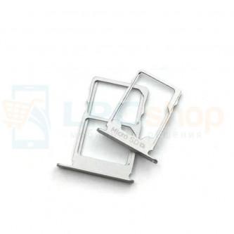 Лоток сим карты и карты памяти Nokia 3.1 Серебро 2 сим карты) (комплект из 2шт)