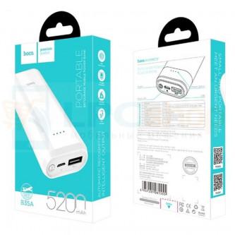 Аккумулятор (Power Bank) Hoco B35A 5200 mAh (2A) Белый