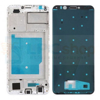 Рамка дисплея для Huawei Honor 7C Pro LND-L29 / Y7 Prime 2018 Белая