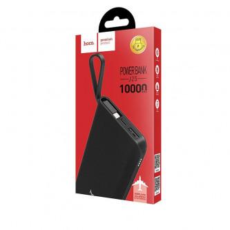 Аккумулятор (Power Bank) Hoco J25 10000 mAh (2A, встроенный кабель Lightning) Черный