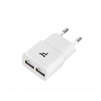 СЗУ USB Hoco UH202 (1A, 2 порта) Белый