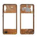 Средняя часть Samsung Galaxy A50 A505F Золотая + кнопки громкости