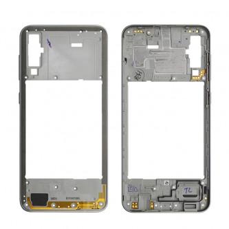 Средняя часть Samsung Galaxy A50 A505F Белая + кнопки громкости