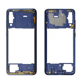 Средняя часть Samsung Galaxy A70 A705F Синяя + кнопки громкости