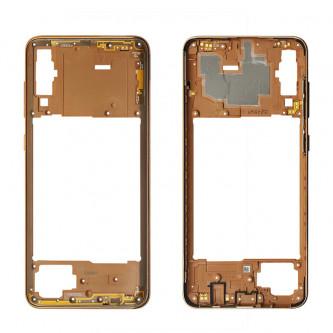 Средняя часть Samsung Galaxy A70 A705F Золотая + кнопки громкости