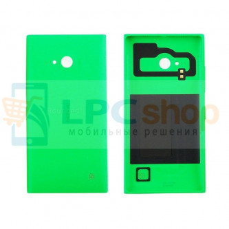 Крышка(задняя) Nokia Lumia 730 Dual (RM-1040) / 735 (RM-1038) Зеленая - без Qi