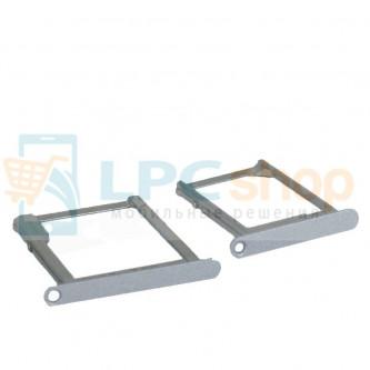 Лоток SIM и MicroSD Samsung Galaxy A3 A300F / A5 A500F / A7 A700FD (комплект 2 шт.) Серебро