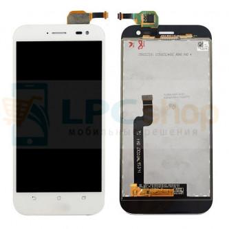 Дисплей для Asus ZenFone Zoom (ZX551ML) в сборе с тачскрином Белый