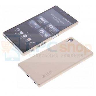 "Чехол накладка Nillkin ""Frosted"" для Sony Xperia Z5 Premium (E6853) / Z5 Premium Dual (E6833, E6883) - Золото"