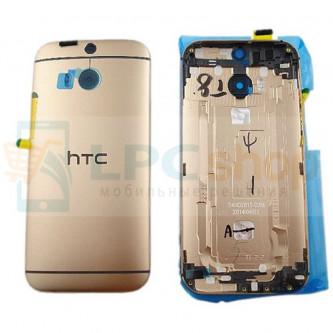 Крышка(задняя) HTC One M8s Золотая
