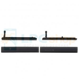 Комплект заглушек (USB+MicroSD) Sony Xperia Z3 Compact D5803 Черный